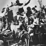 Duke Ellington leading hi