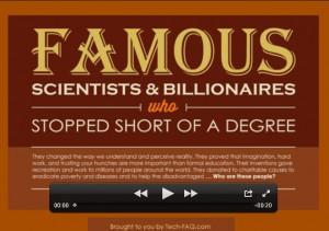 Famous dropouts