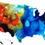 united states of america map  colorful usa sharon cummings
